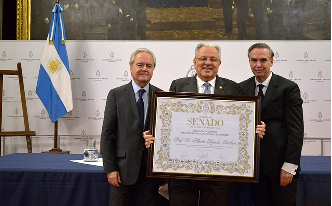 Senate honored Prof. Dr. Alberto Barbieri, rector of the University of Buenos Aires
